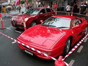 Red Ferrari Turns Heads