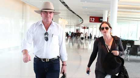 Former deputy PM Barnaby Joyce and partner Vikki Campion are expecting their child any day now. Picture: Kym Smith