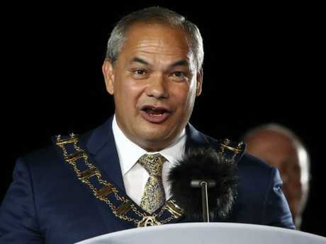 Gold Coast Mayor Tom Tate gives his speech. Picture: Getty