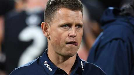Carlton coach Brendon Bolton is under pressure.