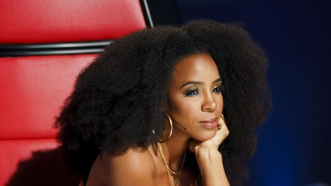 Kelly Rowland for the latest season of Channel Nine's 'The Voice'. Picture: Channel 9