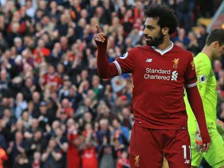 Liverpool's Egyptian midfielder Mohamed Salah