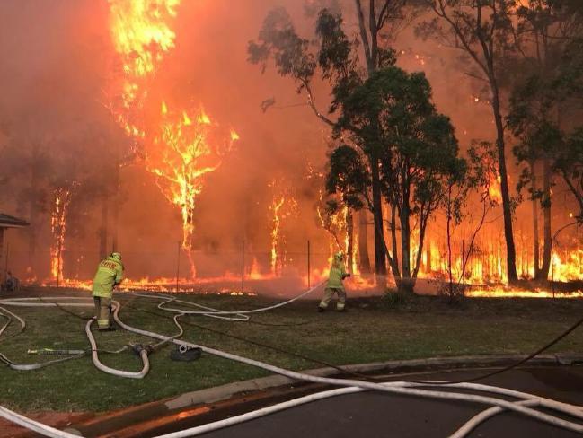 The fire at Casula near Holsworthy Barracks.