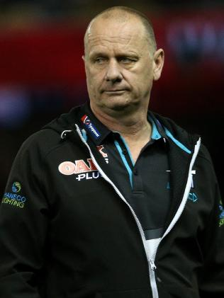 It's been a tough week for Port and coach Ken Hinkley. Pic: AAP