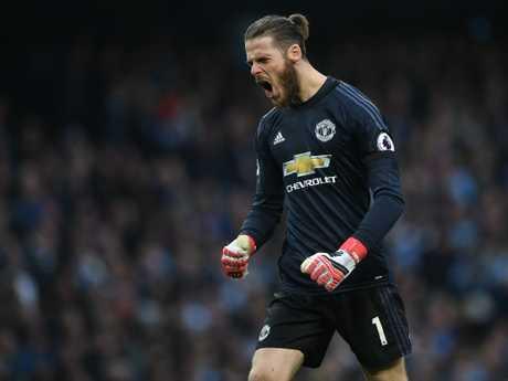 Manchester United's Spanish goalkeeper David de Gea