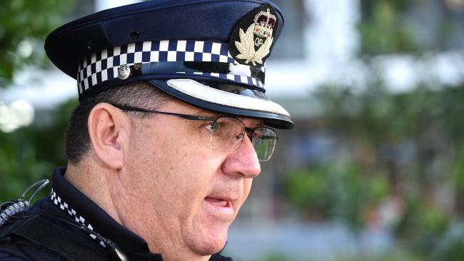 Inspector Rob Graham said passengers had not been told the overboard incident was a deliberate act. He confirmed it was an intentional act when speaking to media this morning. Picture: AAP/ John Gass