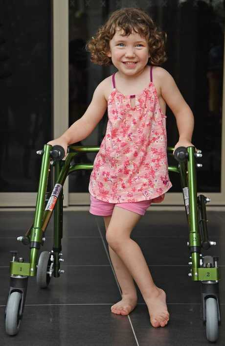 Ciara Burgin is heading to the US to receive pioneering surgery not available in Australia. Picture: Brian Cassey