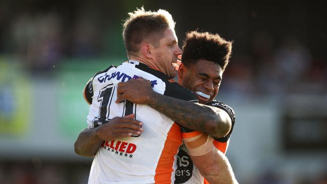 Kevin Naiqama, right, is back in the starting side. Photo: Brendon Thorne/Getty Images
