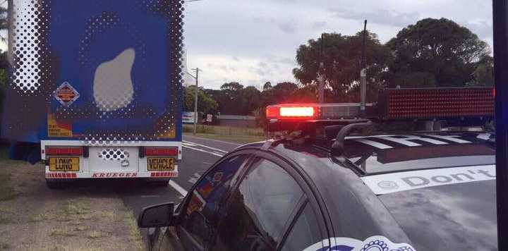 A driver was fined after speeding through a road work zone.