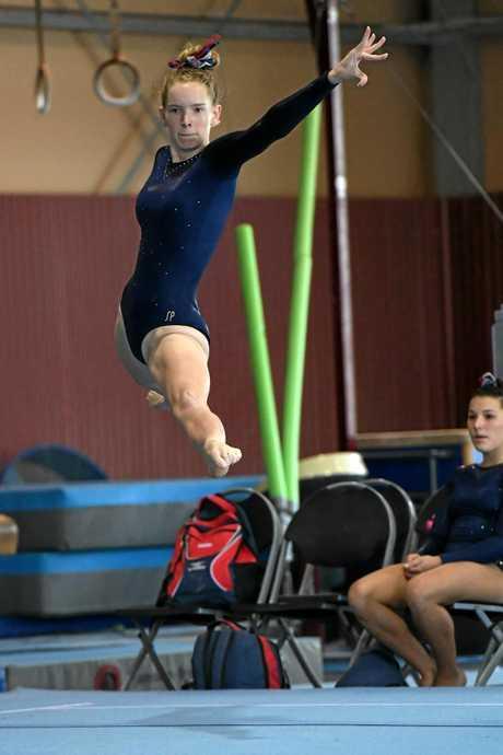 Gladstone's Imogen Beshaw displays balance and poise.