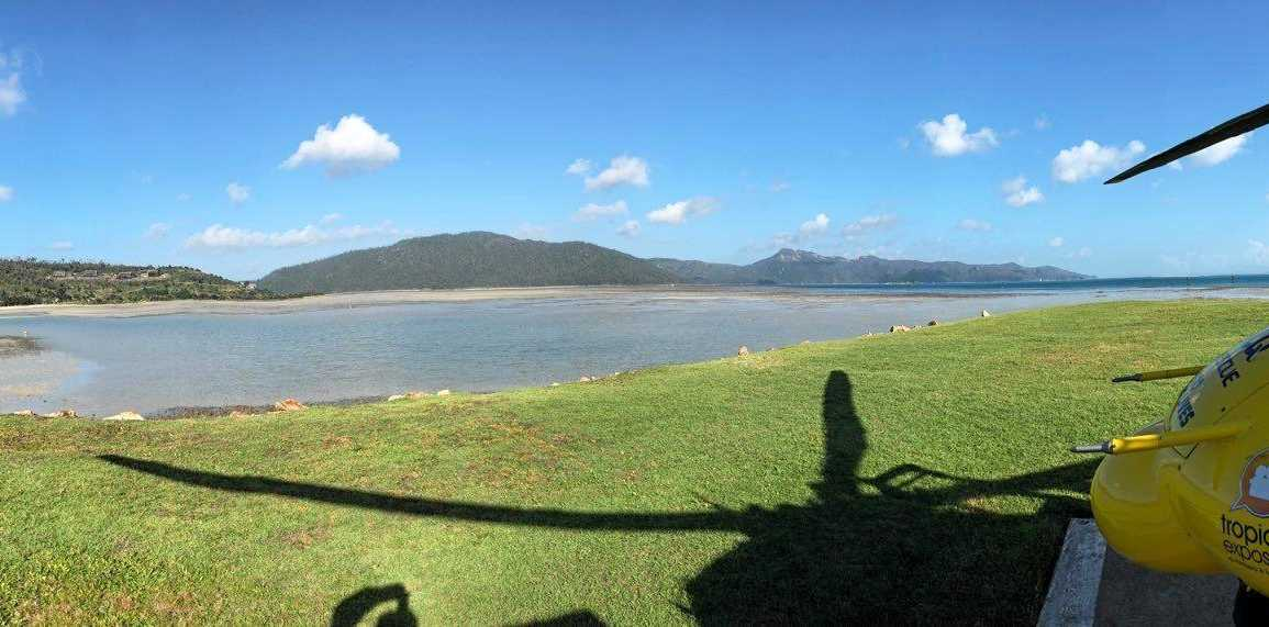 RACQ CQ Rescue landed at Hayman Island this afternoon to airlift a 29-year-old woman bitten by a snake on Hook Island.