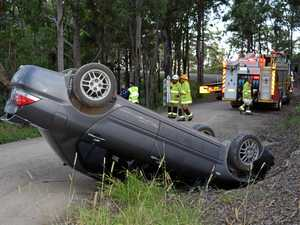 Close call as P-plater flips near mountain edge