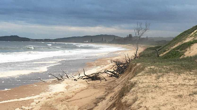 Erosion at One Tree - Wooli Beach from the last weather event to hit the Clarence Valley.