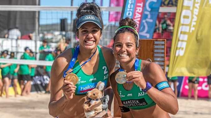 DONE US PROUD: Taliqua Clancy and Mariafe Artacho del Solar have claimed silver in the Commonwealth Games women's beach volleyball.