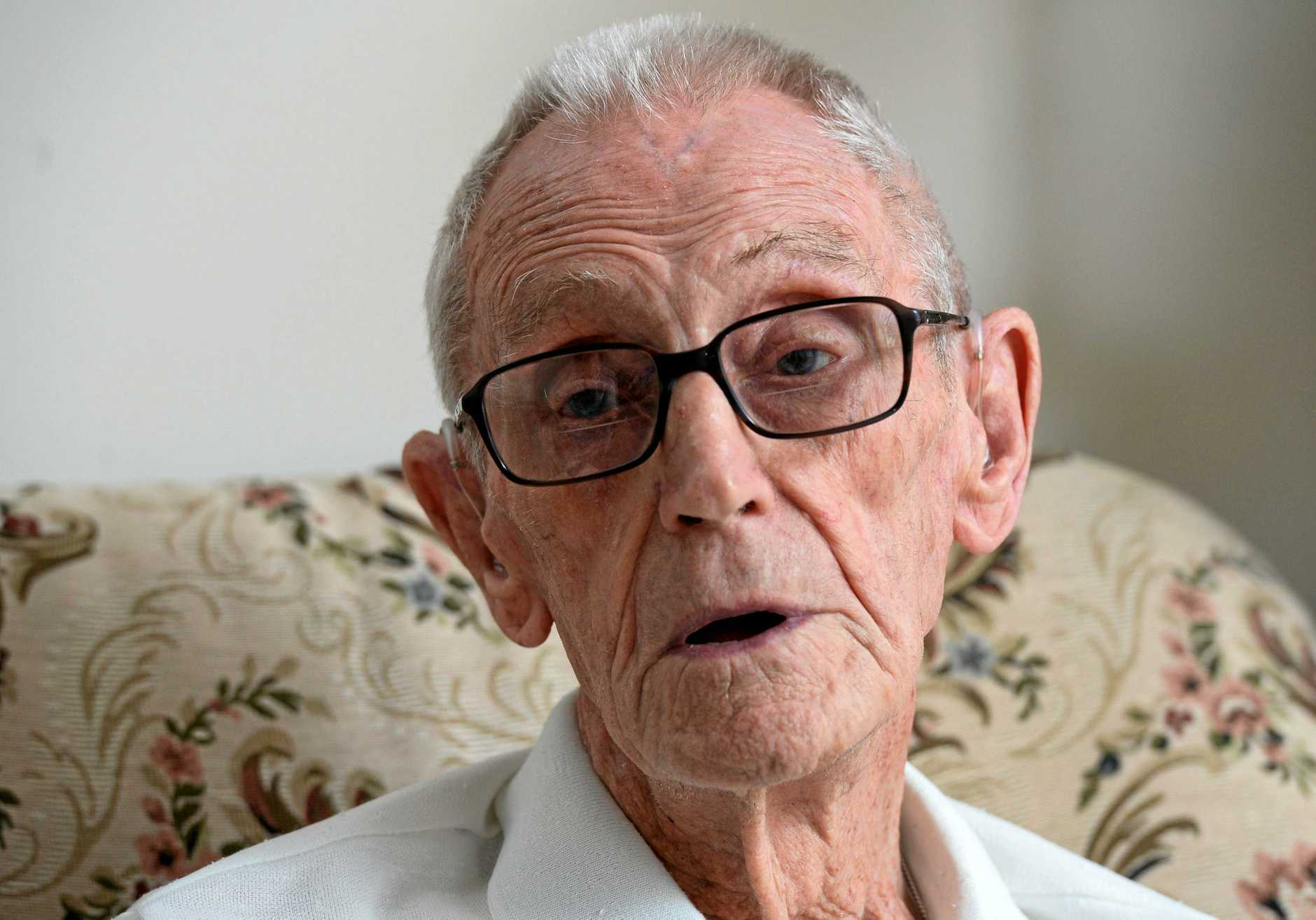 VETERAN: John 'Jock' Oliver served for more than 25 years in the British and Australian navies in five different wars.