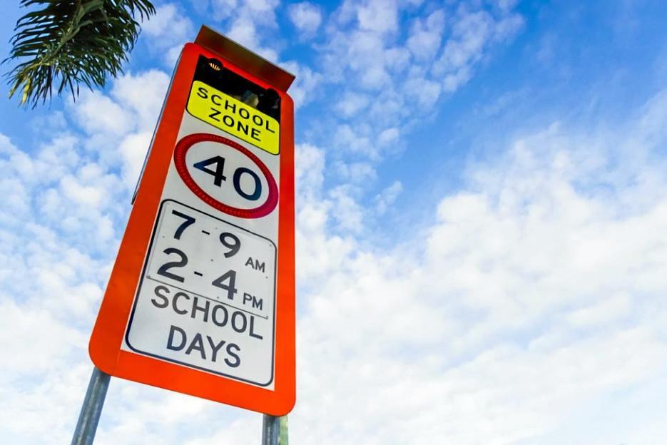 SCHOOL'S BACK: Slow down in school zones.
