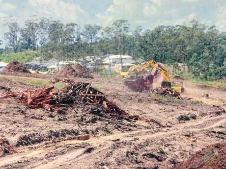 Land clearing already undertaken in Bellbird Park to make way for new homes.