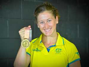 Gladstone's golden girl arrives back home