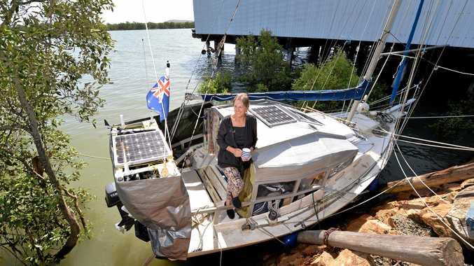 SEA LEGS: Joanne Morgan and her partner Robert Oakley have been living aboard their yacht 'Ventura' since 1998.