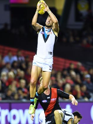 Travis Boak misses a mark. Picture: Mark Brake/Getty Images