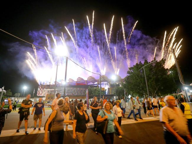 Crowds leave the Commonwealth Games closing ceremony before it finishes. Picture: Mike Batterham