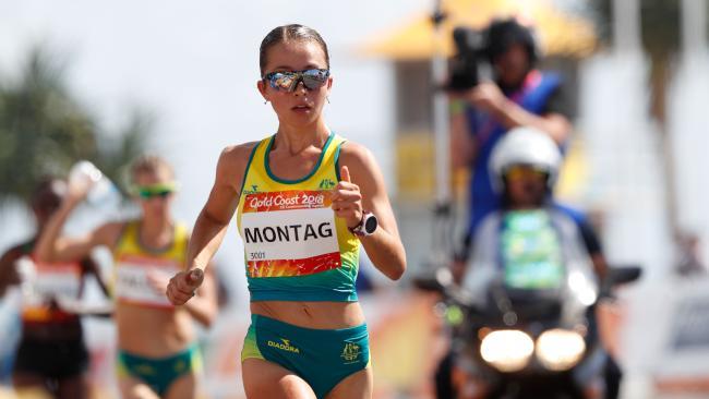 Australia's Jemima Montag. (AFP PHOTO/Adrian DENNIS)