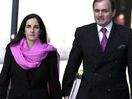 Major Charles Ingram with wife Diana arriving at the Southwark Crown Court in London in 2003 where they faced fraud charges over an appearance on the TV program Who Wants To Be A Millionaire? Picture: AP