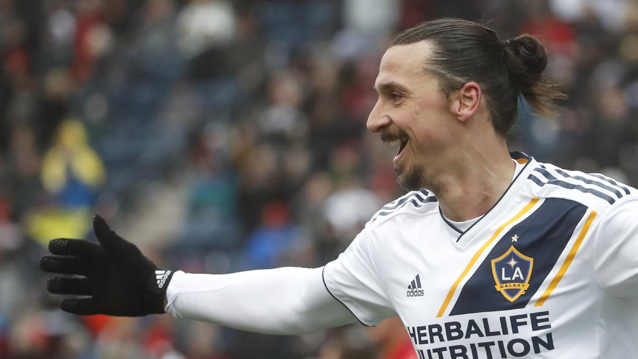Zlatan Ibrahimovic of Los Angeles Galaxy smiles