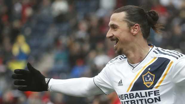 Zlatan Ibrahimovic of Los Angeles Galaxy smiles