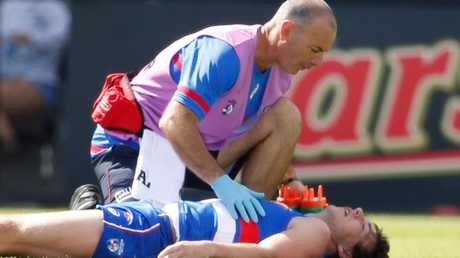 All concern for AFL players' long-term health — as highlighted last week with Western Bulldogs premiership hero Liam Picken's troubles after being concussed in the pre-season — should over-ride for how the game looks with rule changes to minimise serious head injuries. Picture: Scott Barbour (Getty Images)