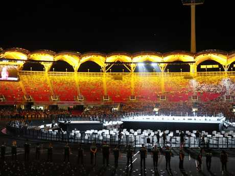 That's a lot of empty seats. Picture: A Carlile / MEGA