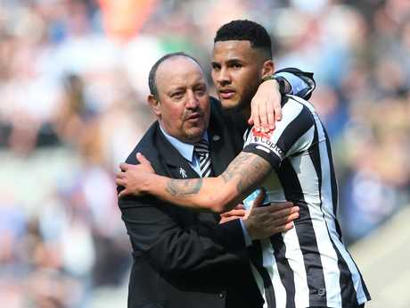 Rafael Benitez, Manager of Newcastle United and Jamaal Lascelles