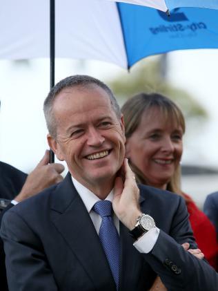Bill Shorten will plege $5.4 billion for the Cross River Rail project. Picture: Colin Murty/The Australian