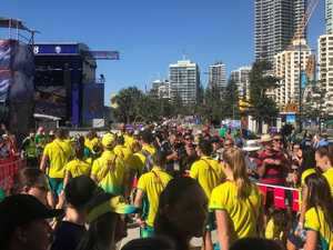 Aussie athletes 'forced to bake in the sun'