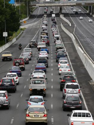 Labor will also match Malcolm Turnbull's $1 billion pledge to widen two sections of the congested M1. Picture: Darren England