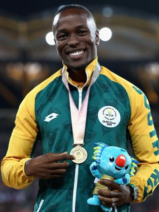 Akani Simbine, of South Africa. (Cameron Spencer/Getty Images)