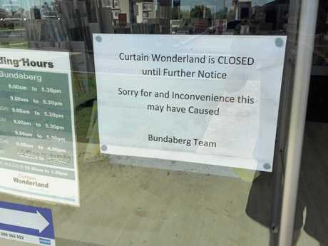 The message from staff to Curtain Wonderland customers.