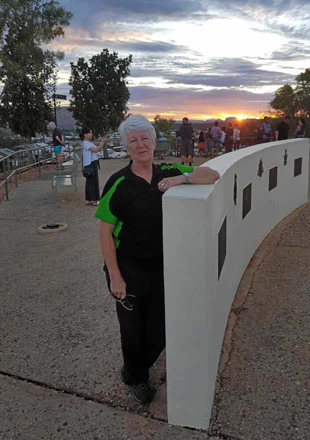 Marianne Cummins at Alice Springs War Memorial 2018.