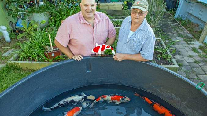 BIG FISH: Greg Collins and Wayne Stoves with their award-winning fish.