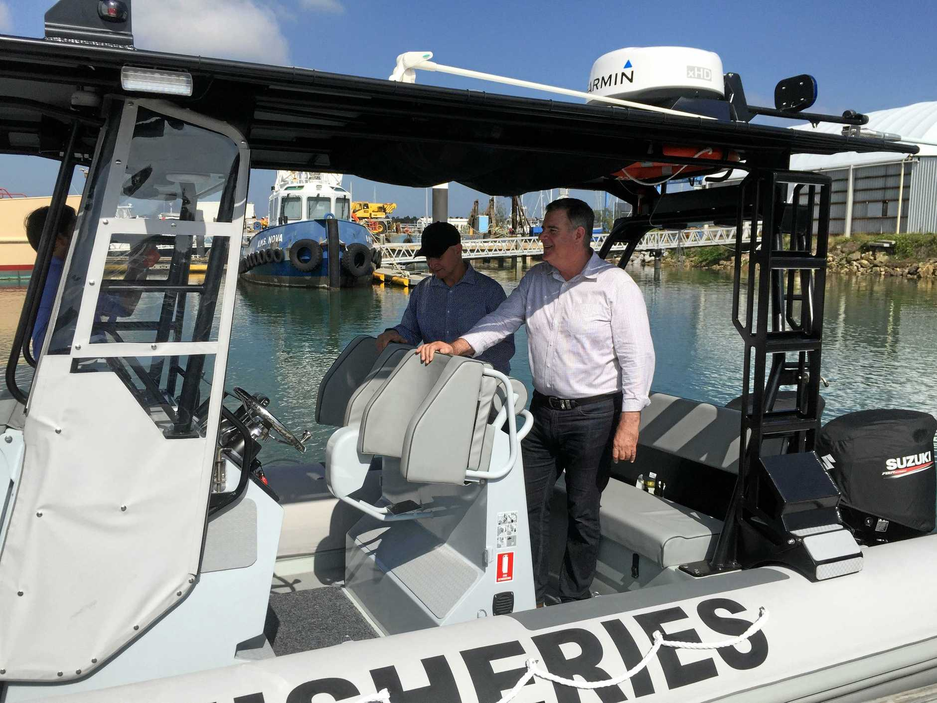 Gladstone Fisheries latest vessel, the NM Frost makes a splash.
