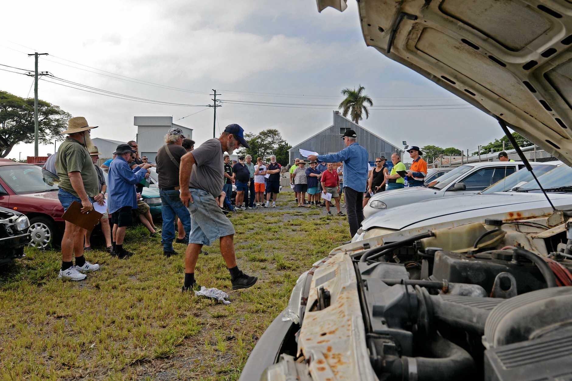 Mackay Regional Council abandoned car auction.