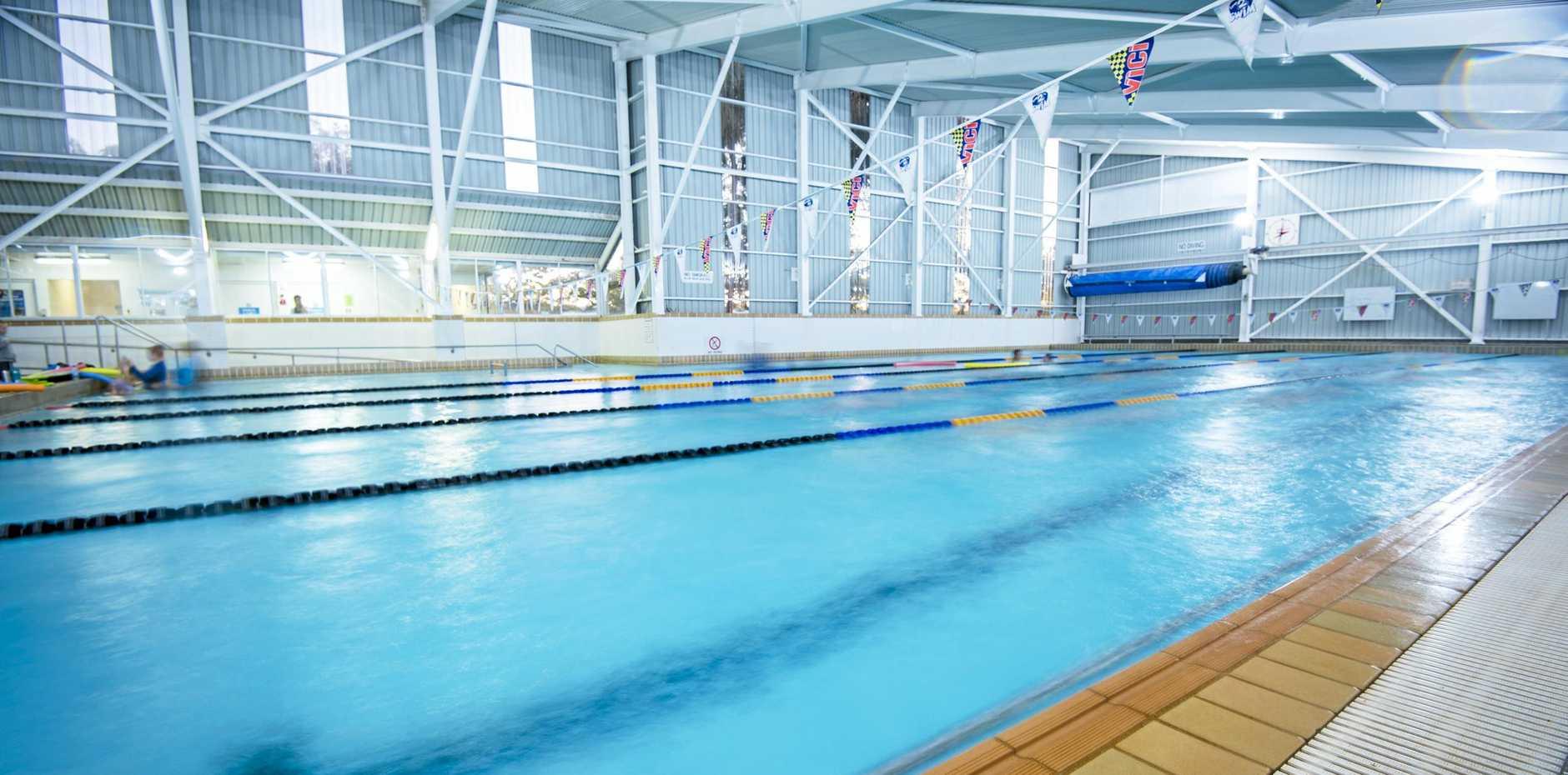 The Gladstone Aquatic Centre's heated pool.