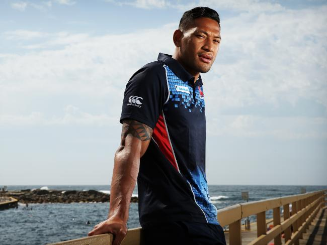Rugby union star Israel Folau has come under scrutiny after his comment on gay people. Picture: Tim Hunter