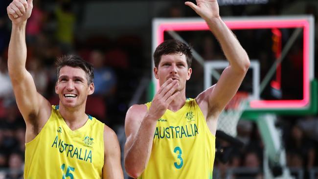 Damian Martin and Cameron Gliddon of Australia.