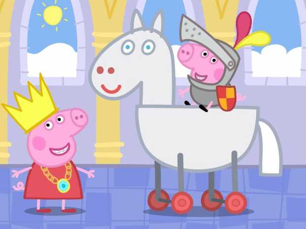 Prepare yourself for what Peppa Pig looks like face-on.
