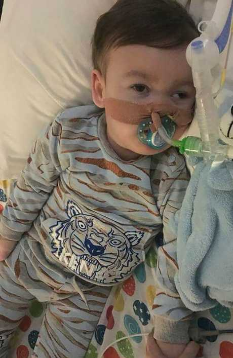 The parents of seriously ill British toddler Alfie Evans have been fighting a legal battle to stop the Alder Hey Children's Hospital in Liverpool from turning off his ventilator. Picture: AFP Photo