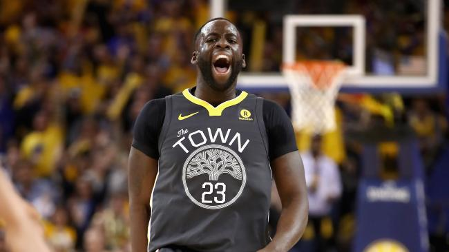 Draymond Green of the Golden State Warriors shows his elation. Picture: AFP