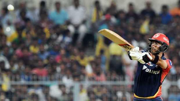 Glenn Maxwell has fallen just short of another IPL half-century.