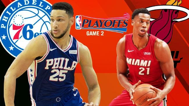 The Miami Heat has levelled its NBA playoff series with the Philadelphia 76ers at 1-1.