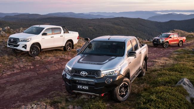 Toyota has released three new variants of its popular HiLux: the Rugged, Rugged X and Rogue. Picture: Supplied